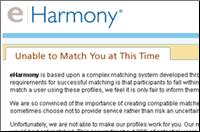 Eharmony no matches